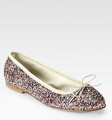 Anniel -  Multicolored Glitter Bow Ballet Flats